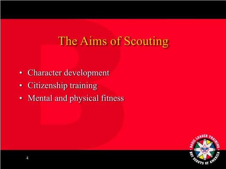 The Aims of Scouting