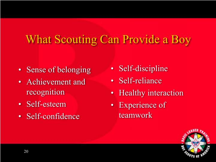What Scouting Can Provide a Boy
