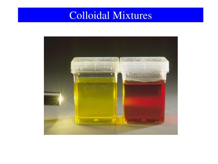 Colloidal Mixtures