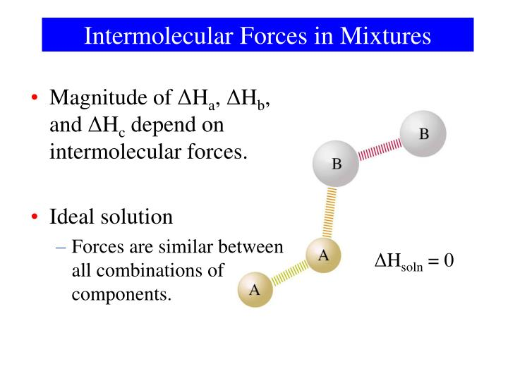 Intermolecular Forces in Mixtures