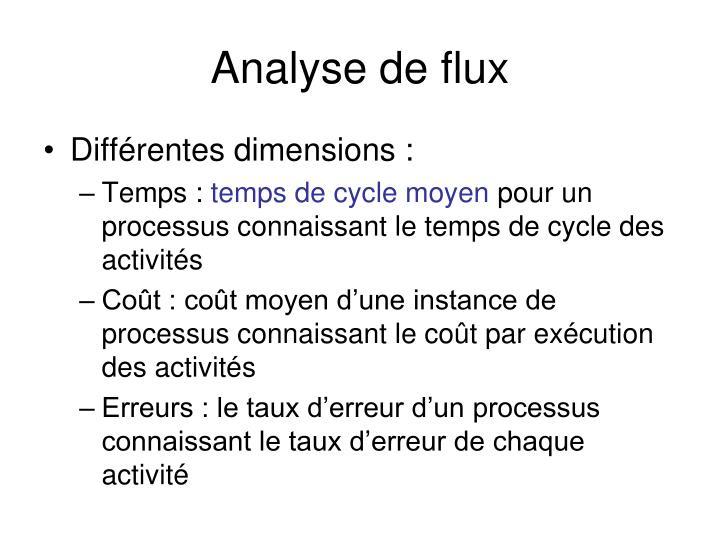 Analyse de flux
