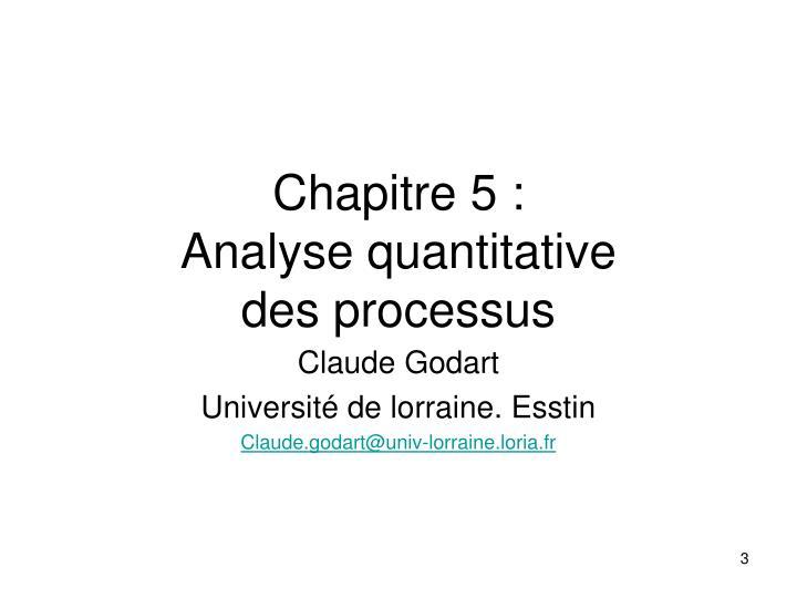 Chapitre 5 :