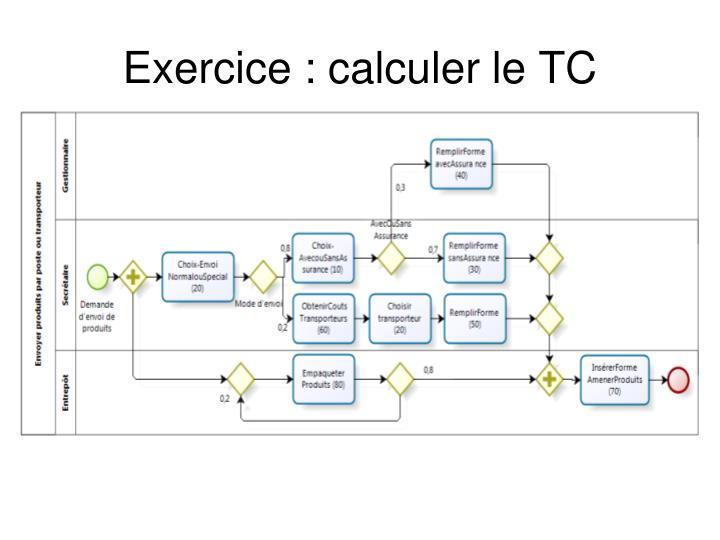 Exercice : calculer le TC