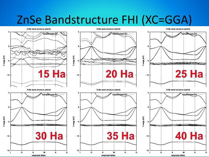 ZnSe Bandstructure FHI (XC=GGA)