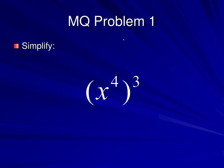 MQ Problem 1
