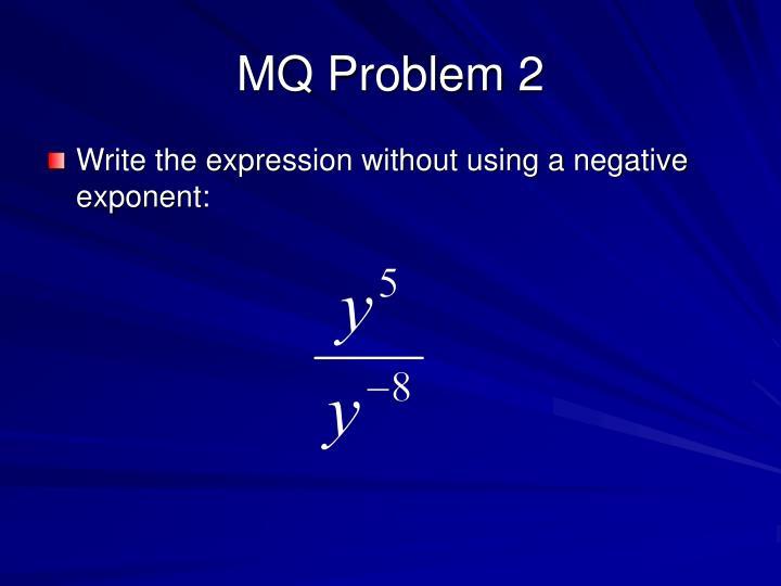 MQ Problem 2