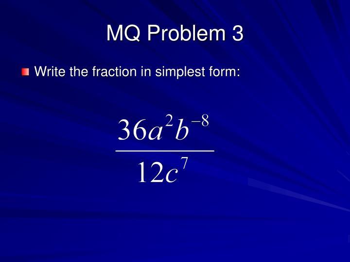 MQ Problem 3