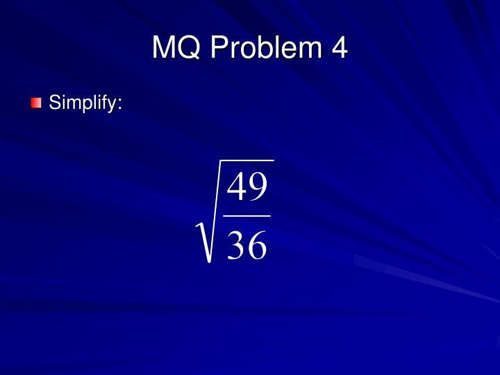 MQ Problem 4