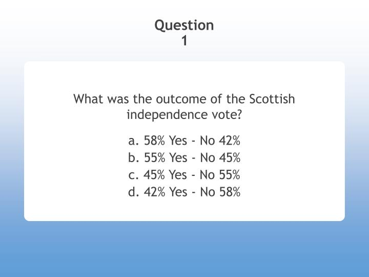 What was the outcome of the scottish independence vote