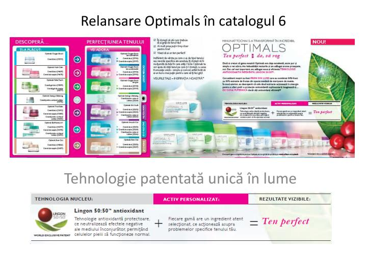 Relansare optimals n catalog ul 6