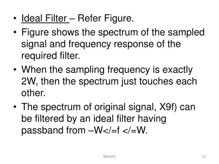Ideal Filter