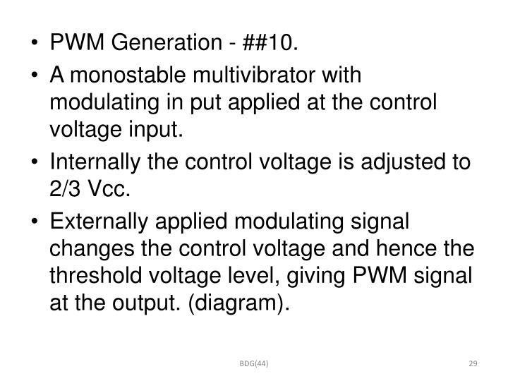 PWM Generation - ##10.