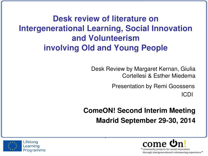 intergenerational learning and social capital essay