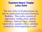 expedient means chapter lotus sutra