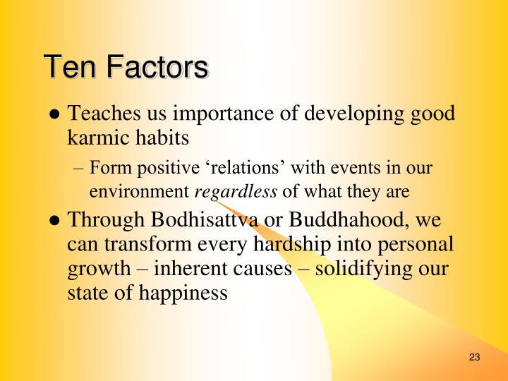 Ten Factors