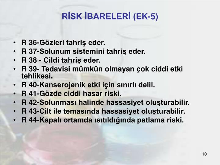 RİSK İBARELERİ (EK-5)