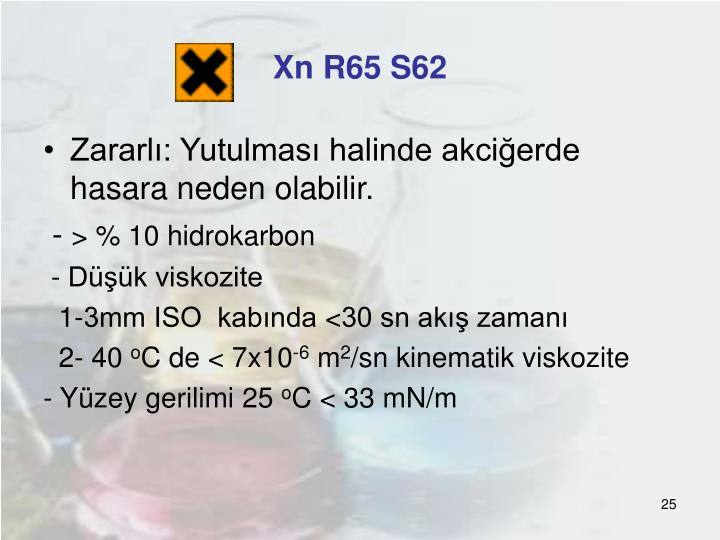 Xn R65 S62