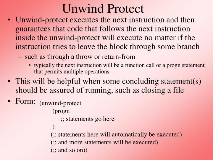 Unwind Protect