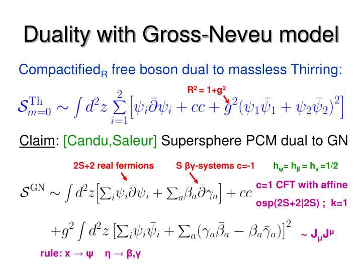 Duality with Gross-Neveu model