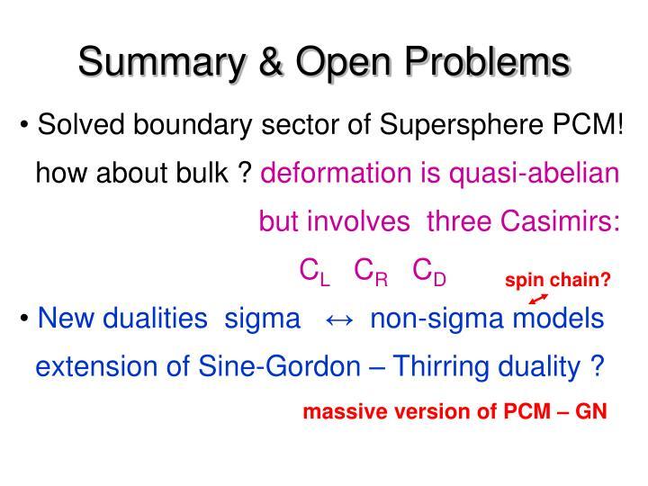Summary & Open Problems