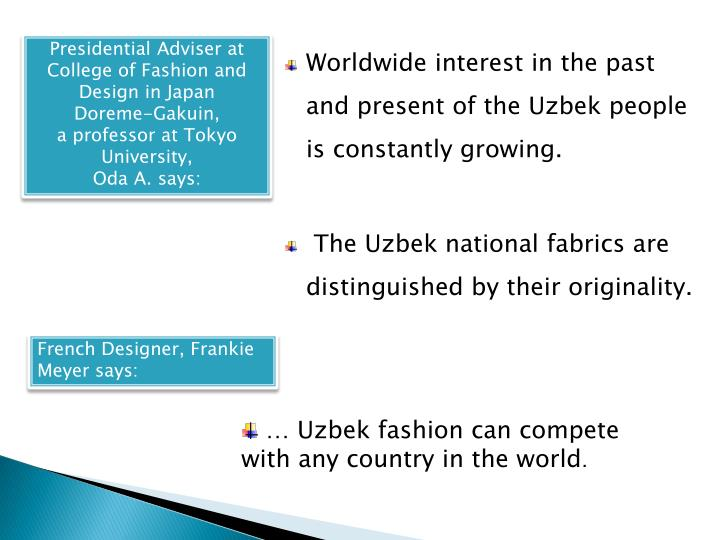 Presidential Adviser at College of Fashion and Design in Japan