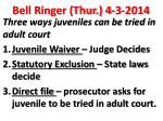 bell ringer thur 4 3 2014