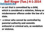 bell ringer tue 4 1 2014
