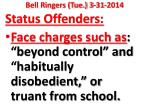 bell ringers tue 3 31 2014