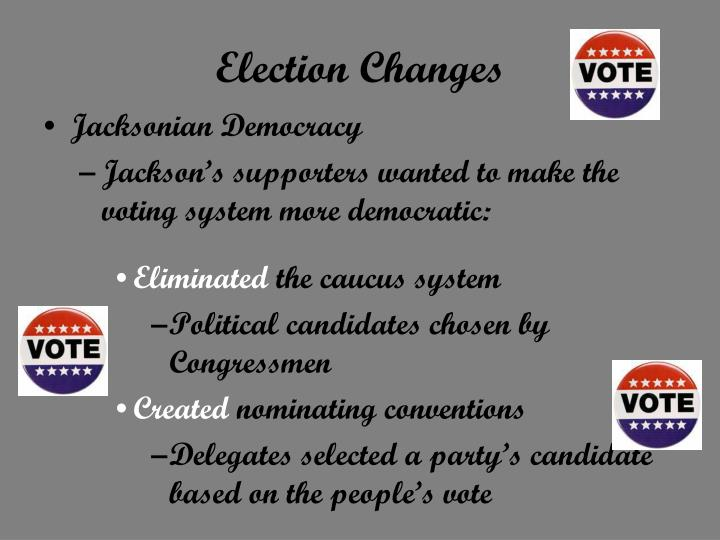 Election Changes