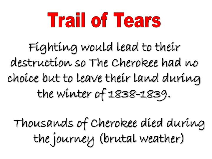 Trail of Tears
