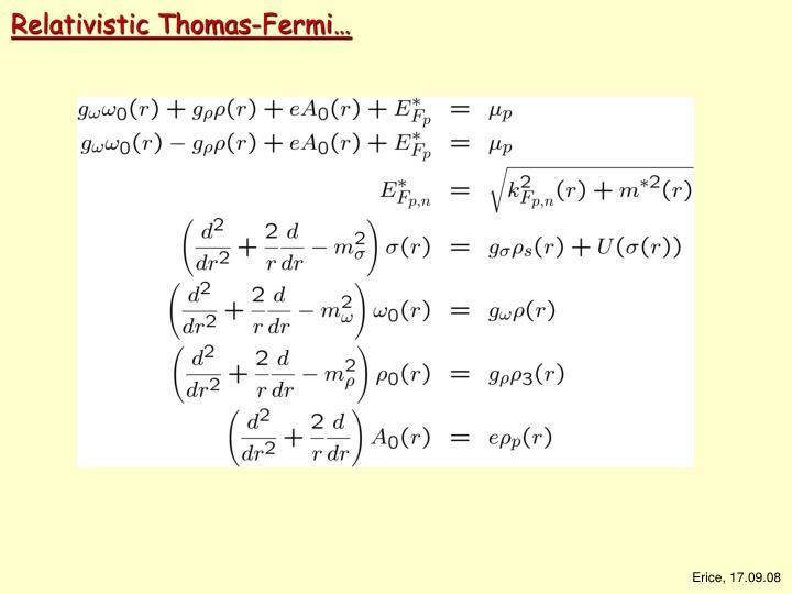 Relativistic Thomas-Fermi…