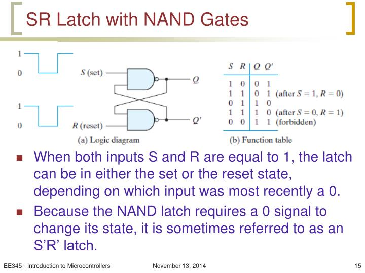 SR Latch with NAND Gates