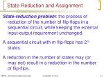 state reduction and assignment