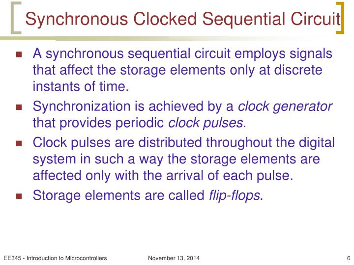 Synchronous Clocked Sequential Circuit