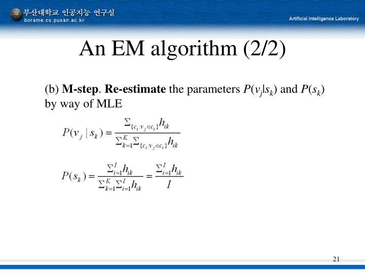 An EM algorithm (2/2)