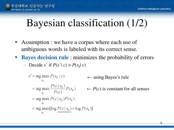 Bayesian classification (1/2)