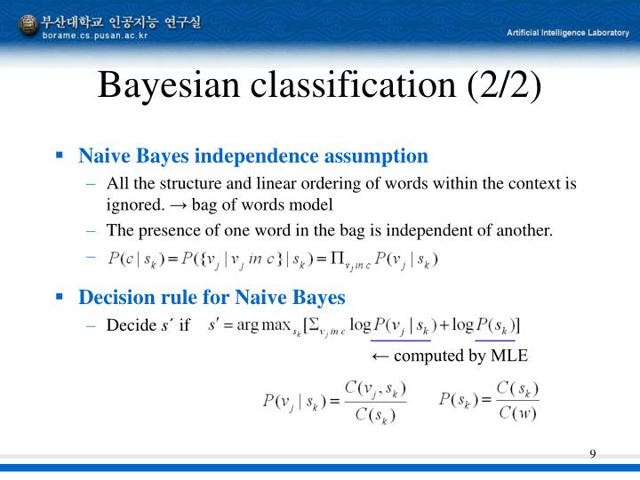Bayesian classification (2/2)