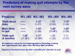 predictors of making quit attempts by the next survey wave1