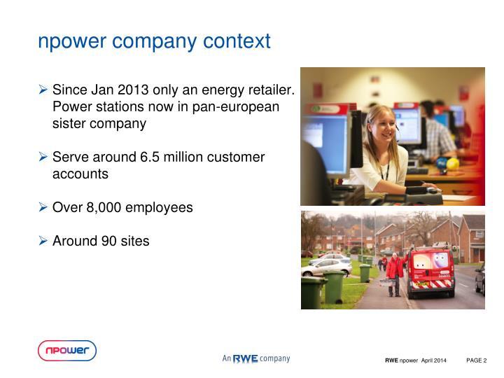 npower company context