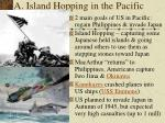 a island hopping in the pacific