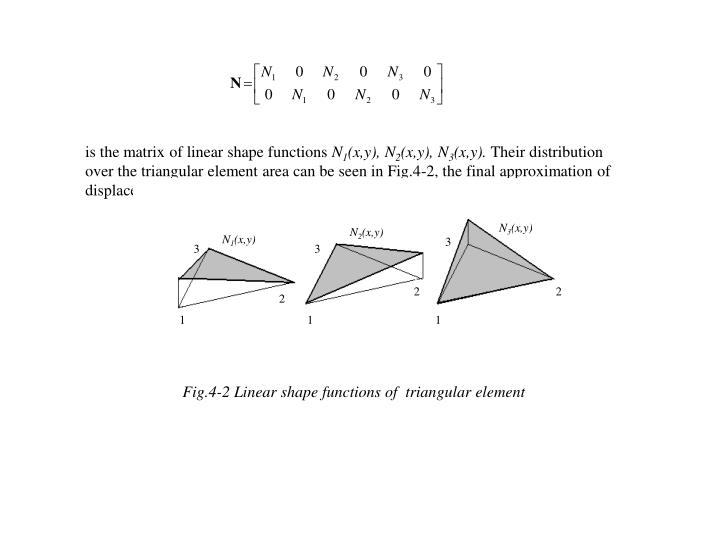 Is the matrix of linear shape functions