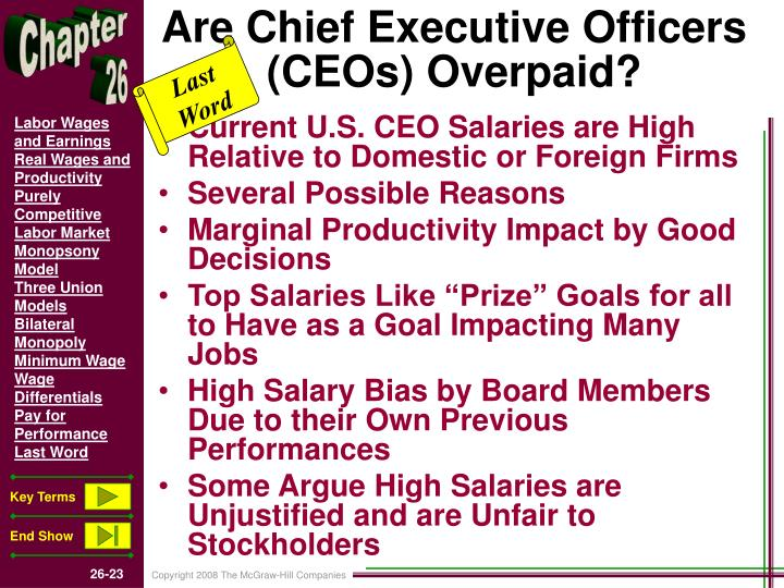 Are Chief Executive Officers (CEOs) Overpaid?