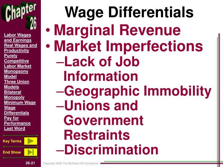Wage Differentials