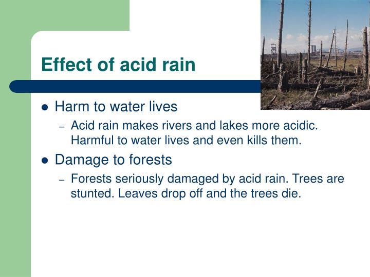 Effect of acid rain