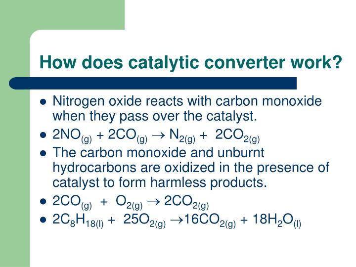 How does catalytic converter work?