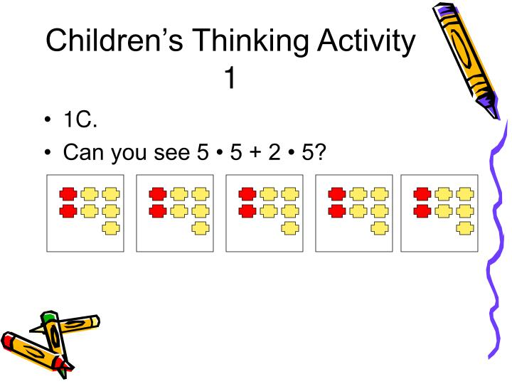Children s thinking activity 11