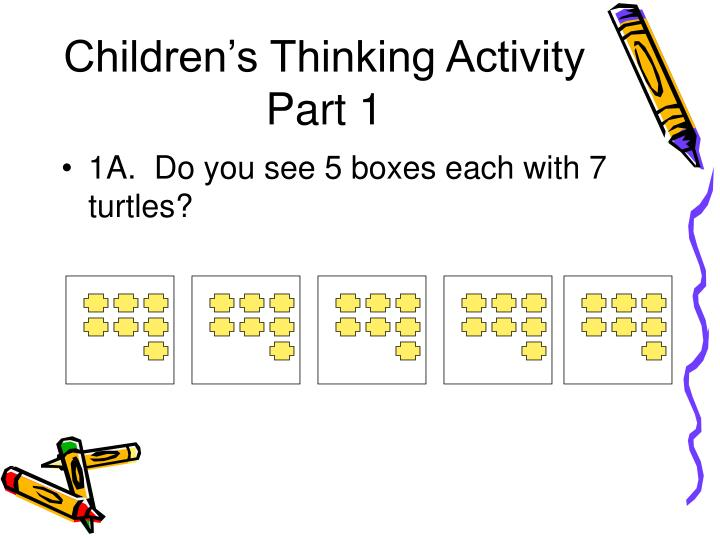 Children s thinking activity part 1