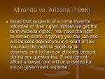 miranda vs arizona 1966