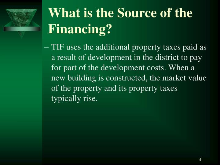 What is the Source of the Financing?