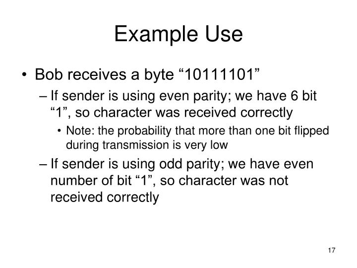Example Use